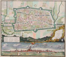 Utrecht plattegrond, panorama  by  Seutter