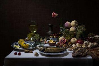 Still-Life with Fruit & Fish by Jeroen Luijt