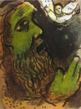 Job en prieres by Marc Chagall