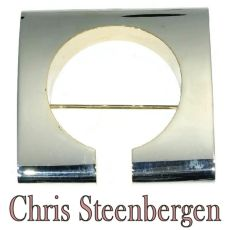 Artist Jewelry by Chris Steenbergen silver and gold brooche by Chris Steenbergen