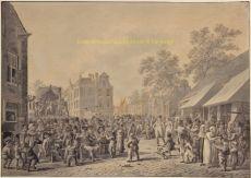 Kermis op de Nieuw Markt te Rotterdam 1804  by Langendijk, Jan Anthonie (1780-1818)