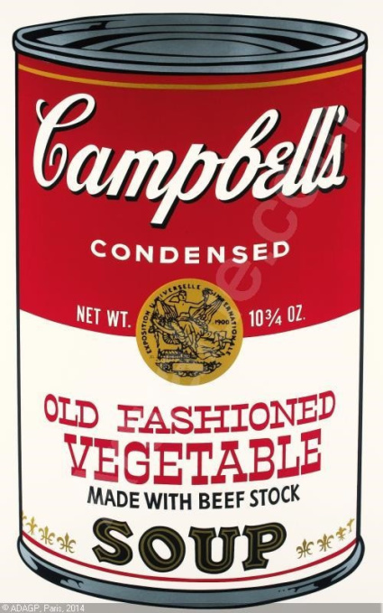 Campbell's Soup II, Old Fashioned Vegetable by Andy Warhol