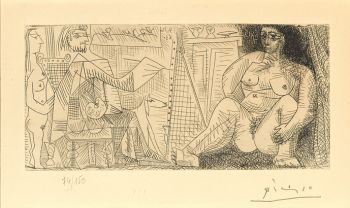 Sought after etching by Pablo Picasso 1963 by Pablo Picasso