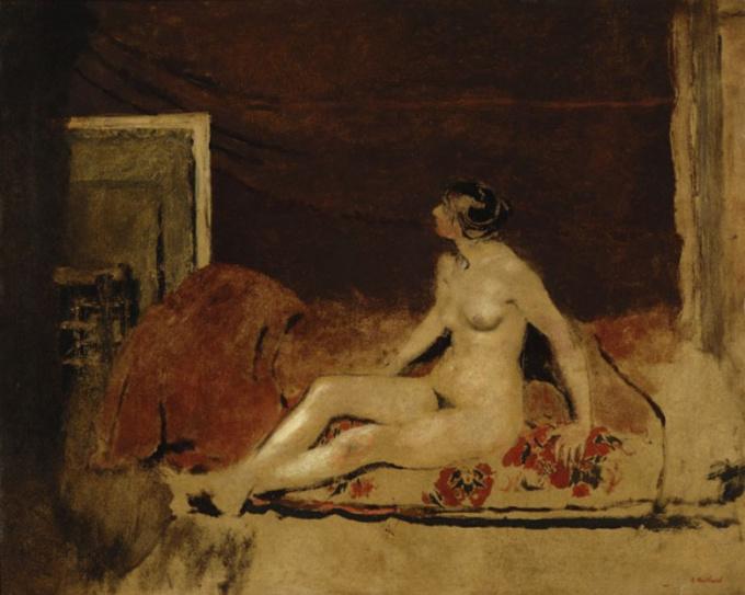 Sitting Nude by Edouard Vuillard