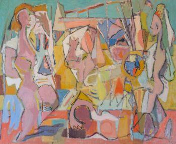 Composition: on the beach, ca. 1940 by Geer van Velde