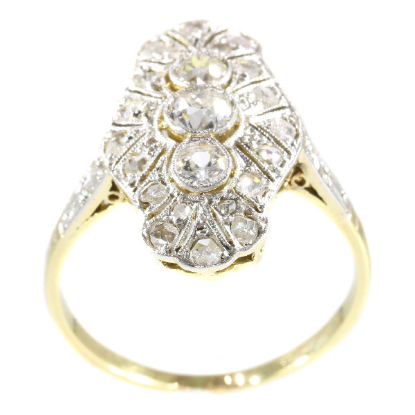 Genuine Vintage Art Deco diamond engagement ring by Unknown
