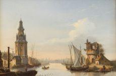 Cityscape with Harbour by Francois J. L. Boulanger