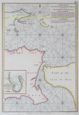 Nautical chart of the Strait of Bali, Indonesia by Laurie and Whittle
