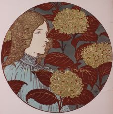 Froideur / coldness, lithograph designed by Eugene Grasset in 1897 by Grasset, Eugene Samuel