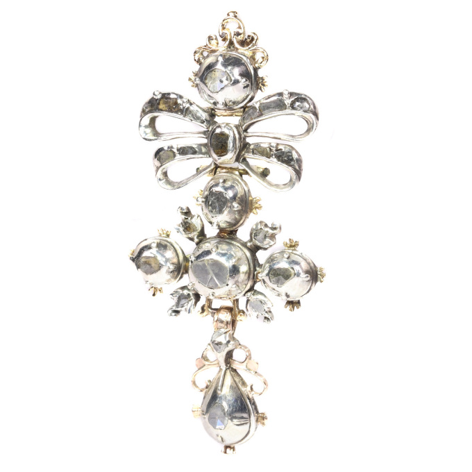 High quality Baroque diamond cross by Unknown