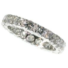 Estate platinum diamond eternity band by Unknown