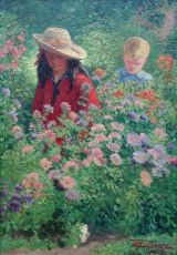 Boy and Girl in the garden