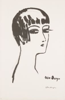 Les Cheveux Courts  (1e staat) by Kees van Dongen