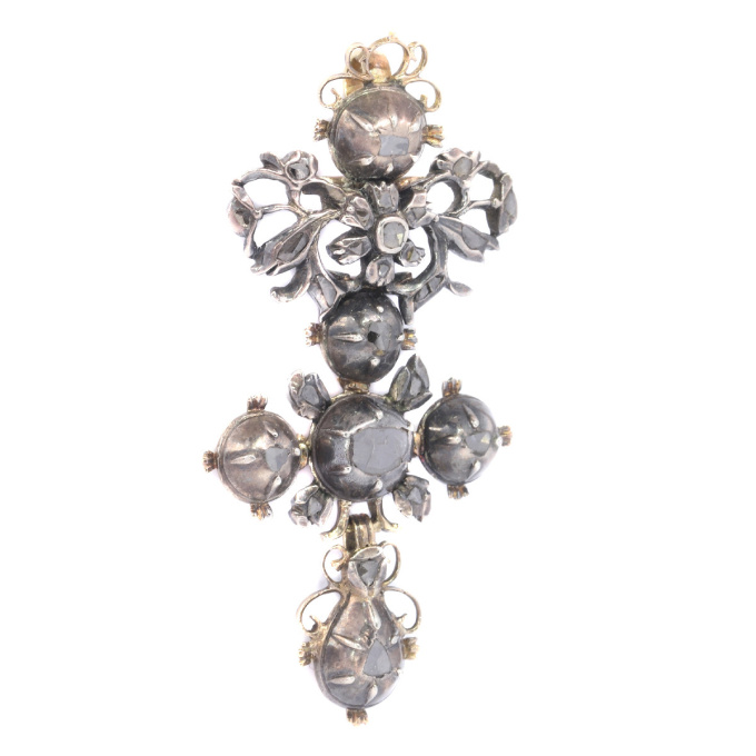 High quality Baroque diamond cross by Unknown Artist