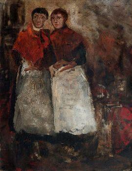 'Twee waspitten' by George Hendrik Breitner