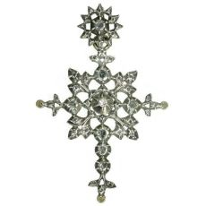 Antique Victorian cross with rose cut diamonds by Unknown Artist