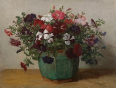 Flowers in a ginger pot by Johannes Evert Akkeringa