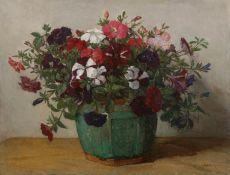 Flowers in a ginger pot by Johannes Evert Akkeringa