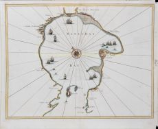 EARLIEST OBTAINABLE CHART TO SHOW MANILA BAY IN DETAIL by Valentyn, Francois (1666-1727)