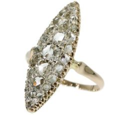 Antique rose cut diamond marquise-shaped ring by Unknown