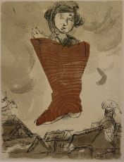 "Comme un Barbare (""Les Poemes"") by Marc Chagall"