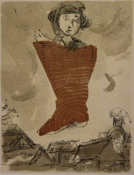 """Comme un Barbare (""""Les Poemes"""") by Marc Chagall"""