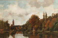 View at Loenen aan de Vecht by Nicolaas Bastert