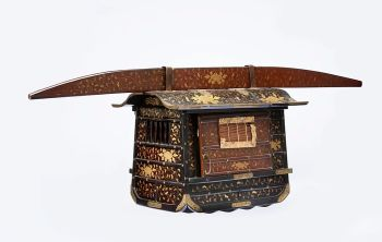 A JAPANESE MODEL OF A NORIMONO, A PALANQUIN by Unknown Artist