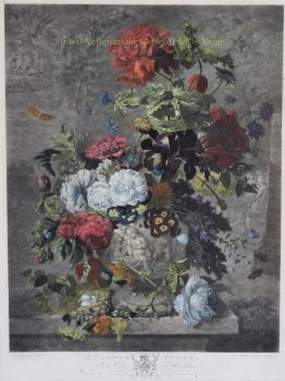 A Flower Piece,  after Jan van Huysum by Earlom, Richard