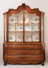 A Dutch padauk display cabinet by Unknown Artist