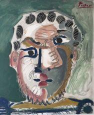 Portrait d'homme Bardu by Pablo Picasso