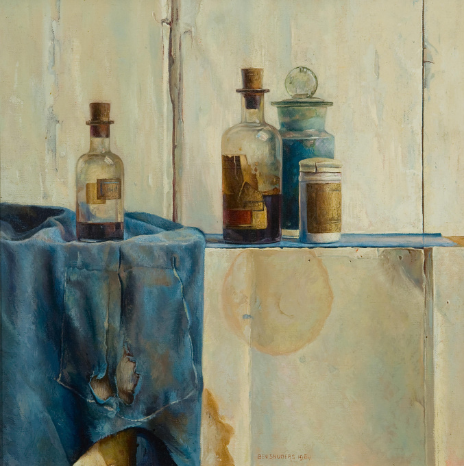 Still life with bottles by Ben Snijders