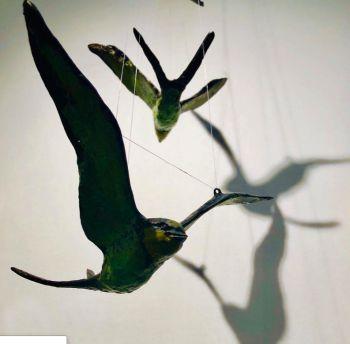 Vliegende zwaluw (Flying swallow) by Hans Jouta