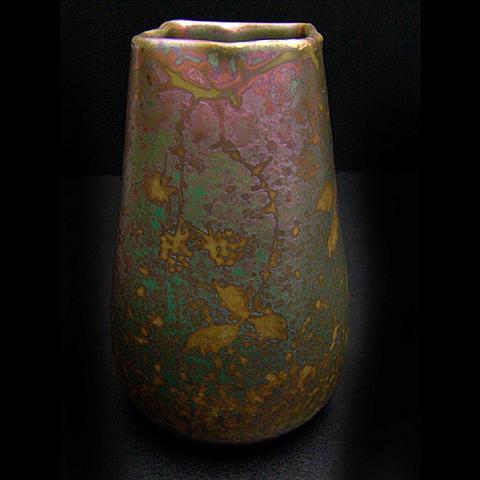 Colourful art nouveau vase  by Clement Massier