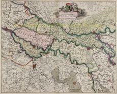 Hertogdom Gelderland, Kwartier van Nijmegen  by Frederick de Wit