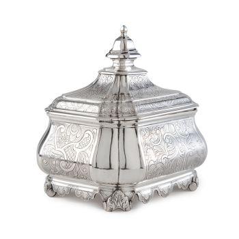 A Dutch silver tobacco jar by Jan Bot