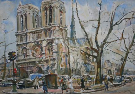 """Notre Dame"" by Erasmus Dülmen-Krumpelmann"