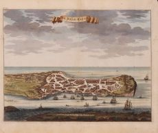 Vue et description de la Ville de Meaco  by Valentyn, Francois (1666-1727)