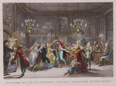 Gemaskerd bal, by gelegenheid van het Joodsche Purim-feest by Jacobsz., Caspar Philips (1732-1789)