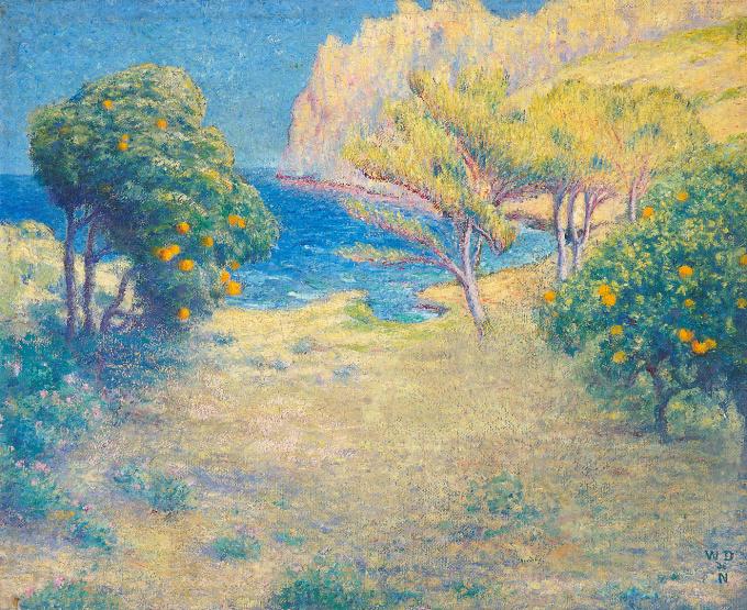Vallée des orangers by William Degouve de Nuncques