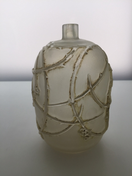 A wonderful small vase 'Eglantines' designed by Rene Lalique by René Lalique