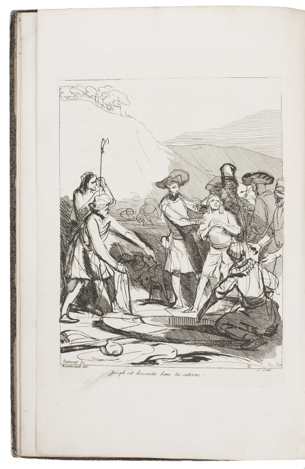 10 etched plates after drawings by a pupil of Rembrandt by Anne Claude Philippe Comte de Caylus