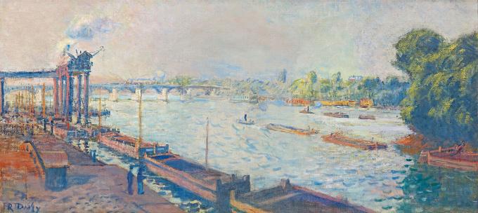 La Seine aan de Pont D'Asnières by Raoul Dufy