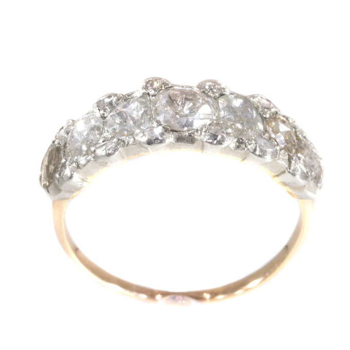 Late Georgian, early Victorian rose cut diamond ring by Unknown