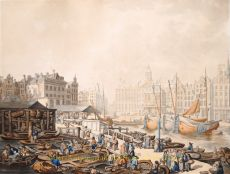 Dam, Amsterdam by Thomas Rowlandson