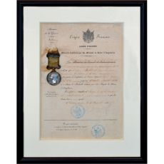 British Crimean War medal with original certificate by Unknown Artist
