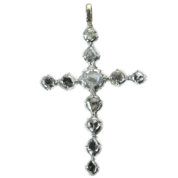 Antique diamond cross pendant by Unknown