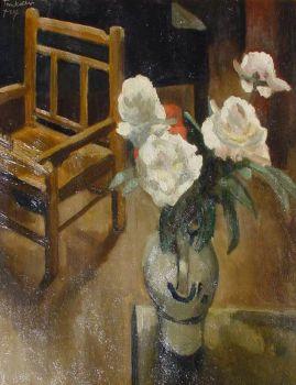 Bunch of flowers in an interior by Toon Kelder