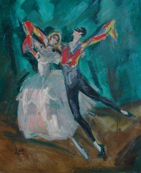 Dancing couple by Charles Felix Gir