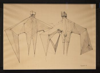 'Two winged figures' by Lynn Chadwick
